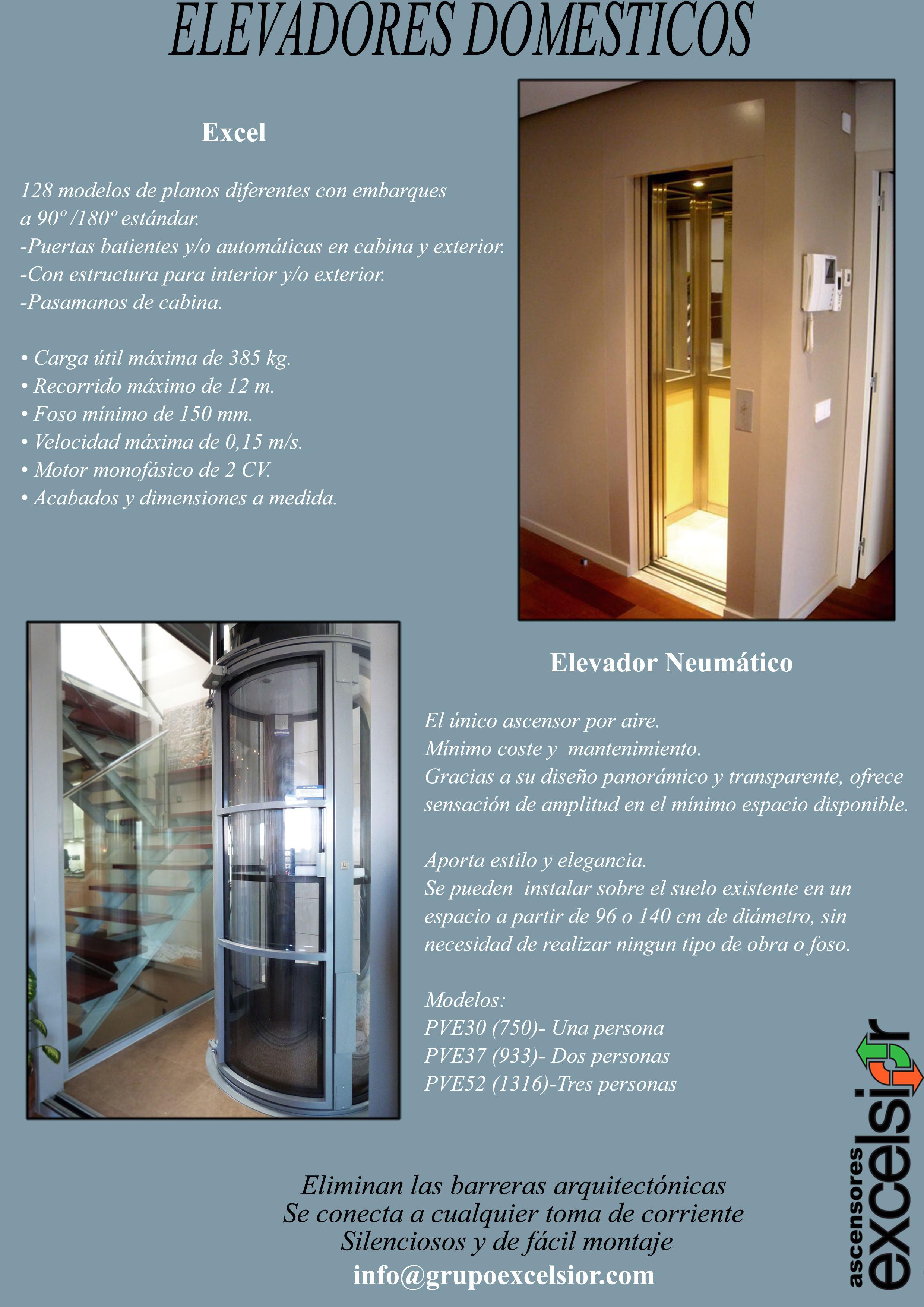 Los elevadores dom sticos de ascensores excelsior - Elevadores domesticos ...