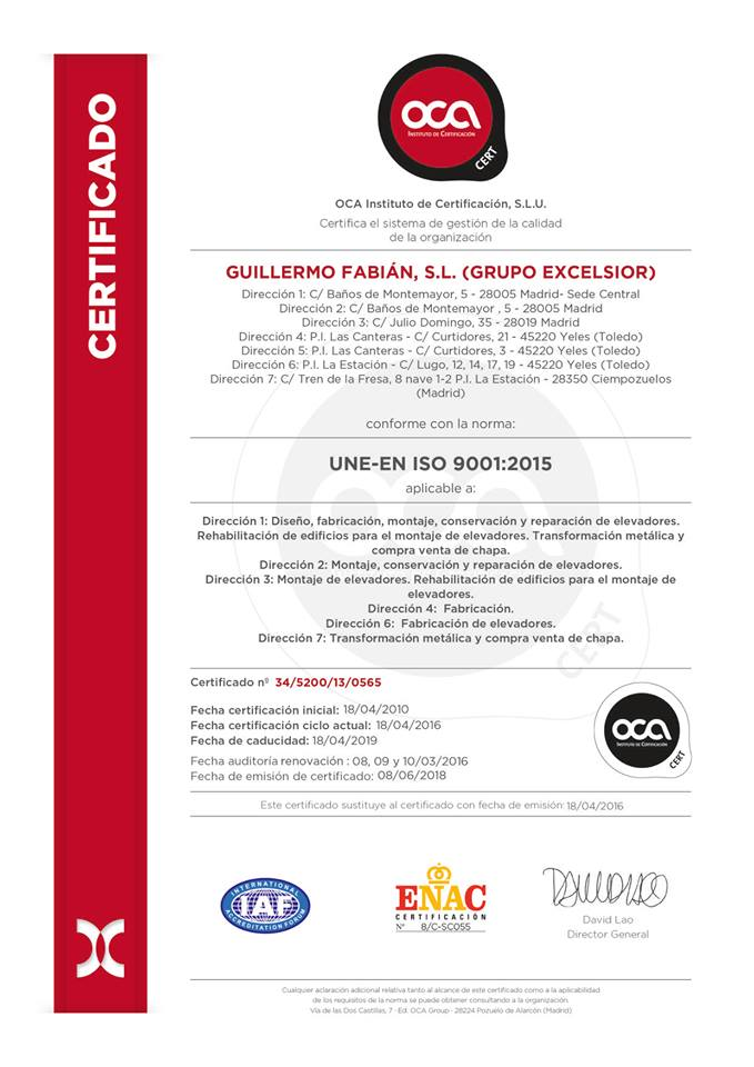 UNE-EN ISO 9001:2015