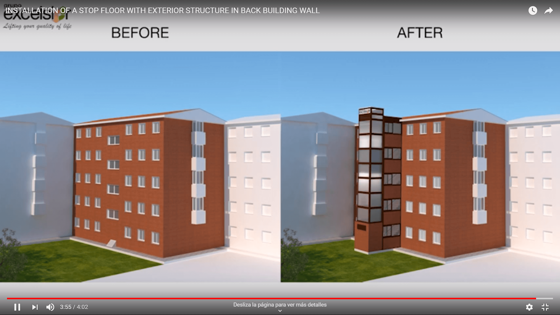 New 3D Video – Back building wall – Stop floor installation with exterior structure