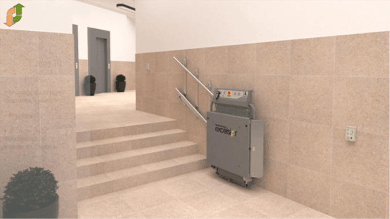 Plataforma Inclinada Recta EXC-I2: mejora la accesibilidad de tu edificio